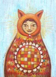 Cat Matryoshka by Dina Argov