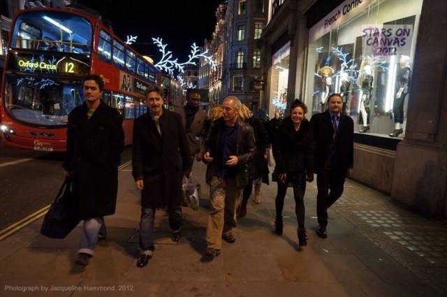 Jag Gallery artists London for the launch of the public exhibition for Stars on Canvas 2012