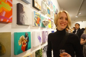 Jacqueline Hammond and her piece for Stars On Canvas 2012