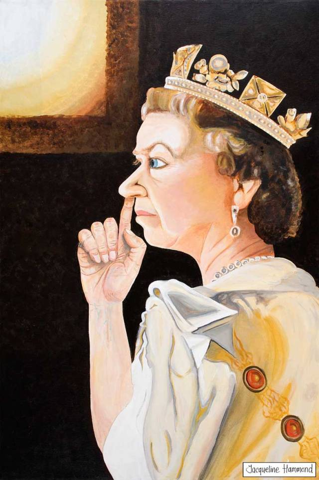 The Queen in a Moment of Privacy Jacqueline Hammond