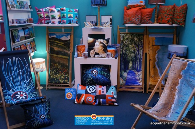 SmartDeco is the brand of British artist and designer Jacqueline Hammond - exhibitor at Spring Fair International 2014 at the NEC, Birmingham, United Kingdom