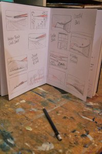 Sketch book - artist Jacqueline Hammond