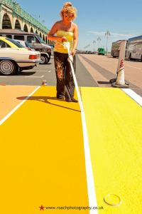 Photo courtesy of Andrew Roach Photography. Painting the Brighton Rainbow Crossing earlier this year.