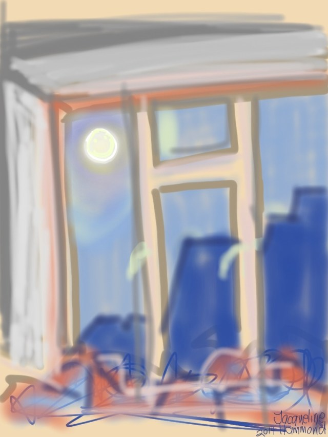 10th August 'Super' Moon. iPad sketch by Jacqueline Hammond