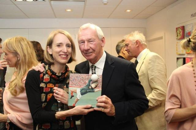 Jacqueline Hammond artist, Bob Wilson footballe, Arsenal and  sports presenter