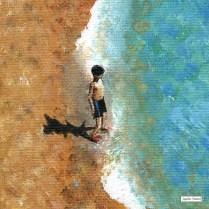 A Little Piece of the Beach-little boy-art-print-Jacqueline Hammond-Smartdeco copy