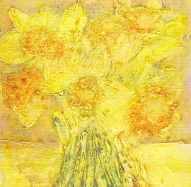 small version of daffodils painting