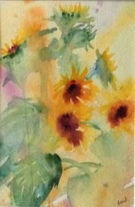smiling summer sunflower