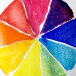 A colour wheel which shows how colours relate to each other to demonstrate how you can use them to influence how you feel.