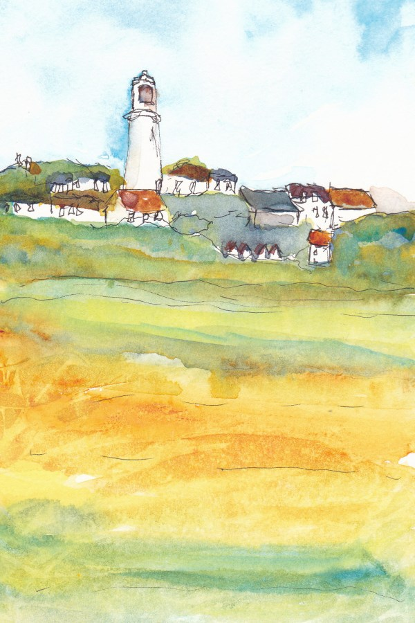 watercolour painting of Southwold lighthouse