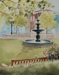 Pullman Square fountain painting