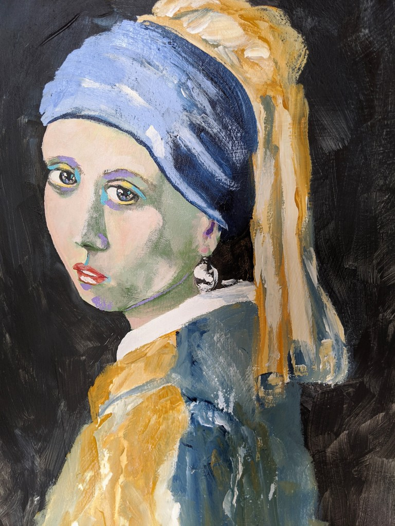 Bold Girl with a Pearl Earring 1