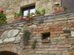 On the edge of a Roman Bath at Bagno Vignoni