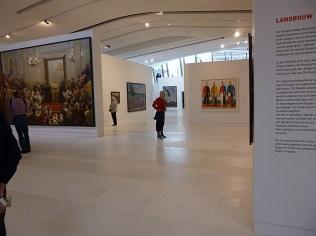 Soviet art show, wide view