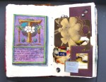 26 Tahiti illuminated letter and collage