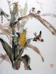Corn Chinese painting