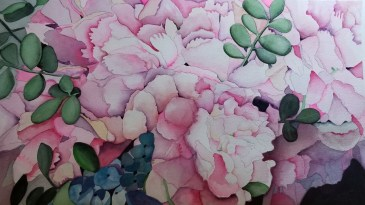 Pike's Market Peonies by Mary Kopecky