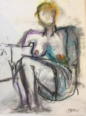Sitting Woman - Susan Burgunder 25x30
