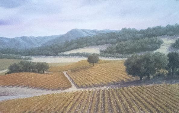 Etty Klinger watercolor-pastel Adelaida Afternoon