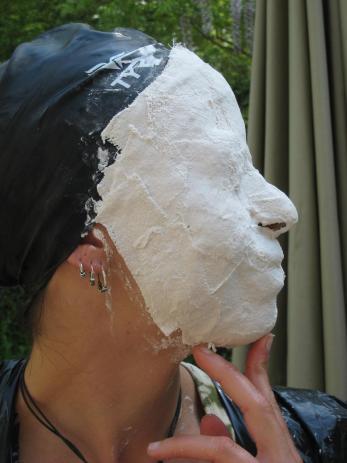 side profile plaster mask