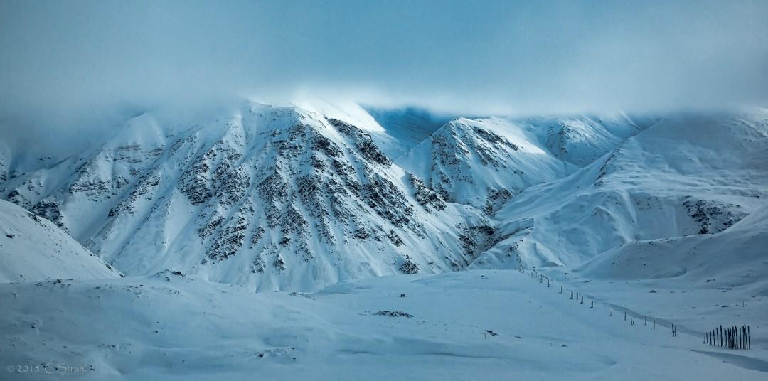 Brooks Range in Low Clouds- Cheryl