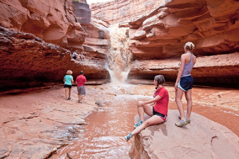Image- Kids blow off steam during a hike up a Creek at Negro Bill Canyon -Adventure Travel