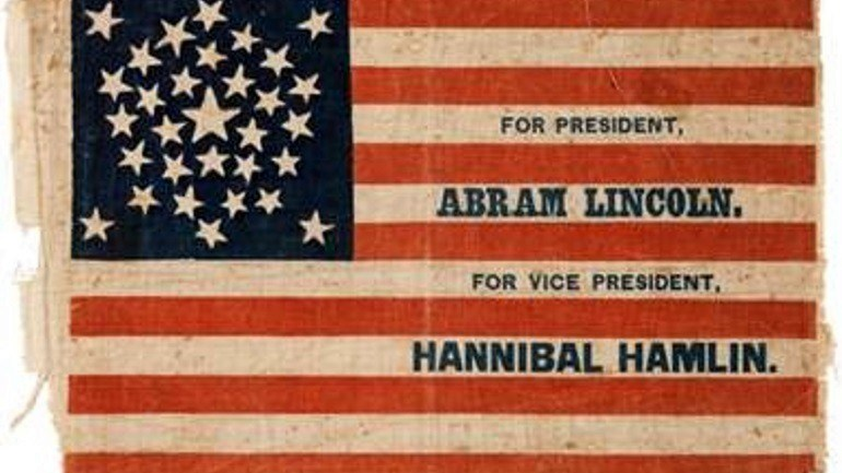 Time to Bid for Abraham Lincoln Campaign Flag at Heritage Auctions