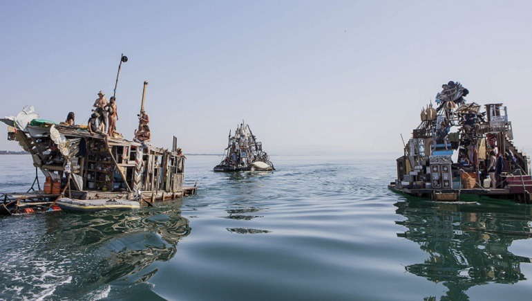 Image- boats-trash - Swoon, The Swimming Cities  of Serenissima Adriatic Sea, a project by Swoon