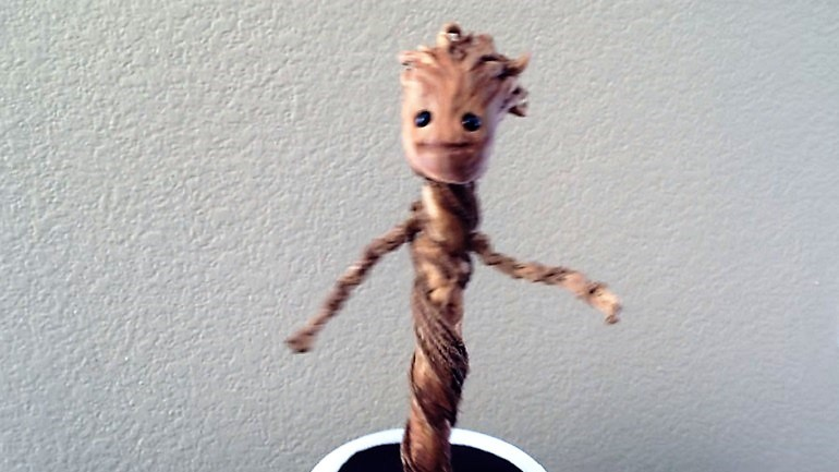 Dancing Baby Groot Twist and Turn With Grace