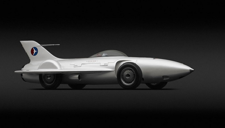 "Image of General Motors Firebird XP-21, 1953  which looks like a jet fighter. It was the works of Harley J. Earl -American, 1893-1969 and  designer Robert F. ""Bob"" McLean mad it one of the innovative cars"