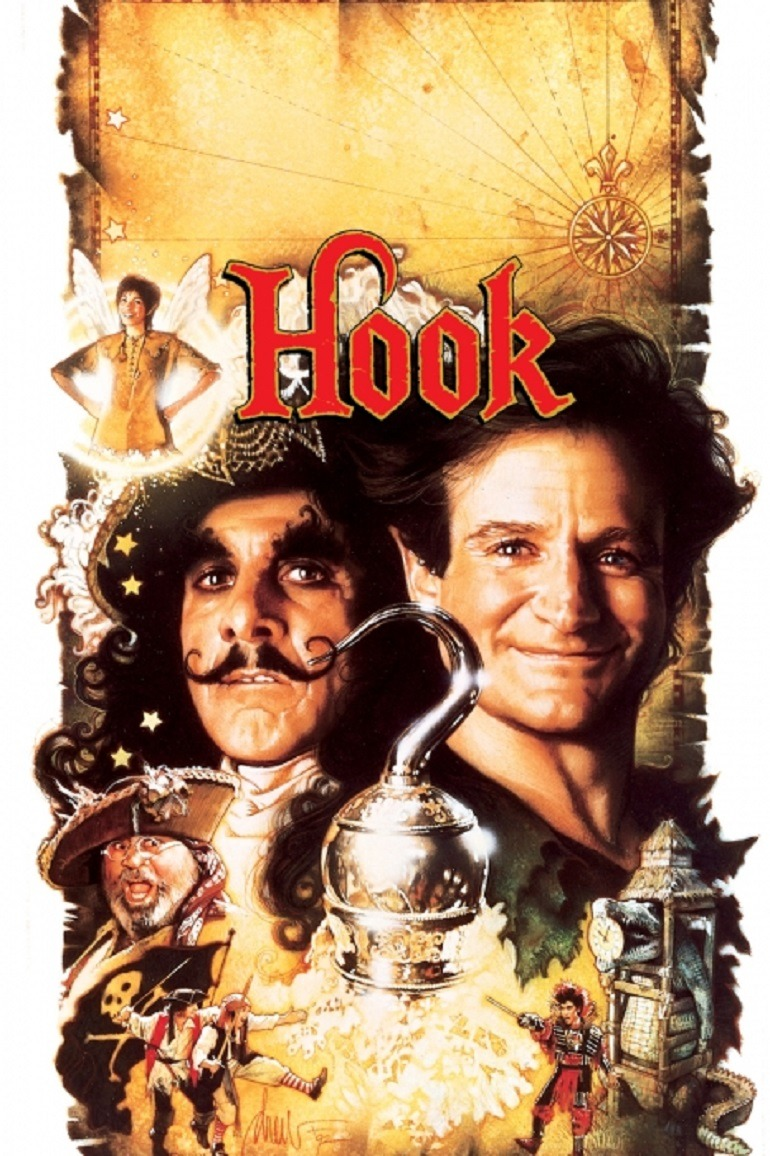 Image: Robin Williams played Peter Pan in 'Hook' that also starred Dustin Hoffman, Robin Williams and Julia Roberts