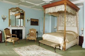 Image- This Bedroom, is one of the bedrooms in Highclere Castle where Downton Abbey on PBS is recorded