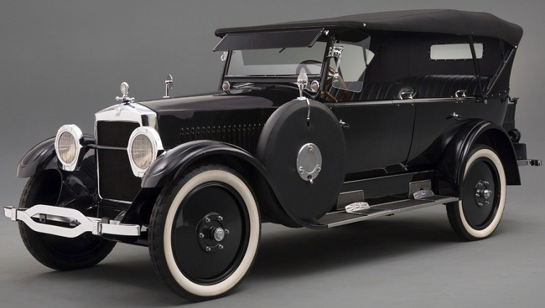 Image:  Black beautiful 1923 Studebaker Big Six Speedster was not only a beauty but also speed machine used for car racing even in the depression era.