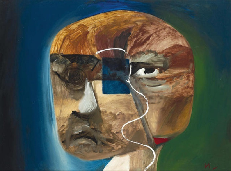 Image: Head, an oil on board painting by Sidney Nolan is expected to fetch great art price at Bonhams Australia art auction