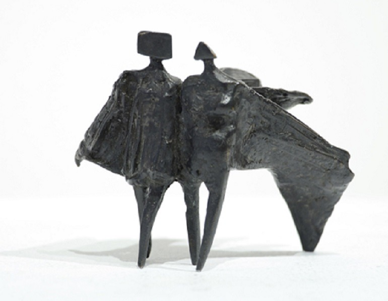 Image: Sculpture by Lynn Chadwick titled Miniature Figure III was one of the works presented at the Toronto International Art Fair