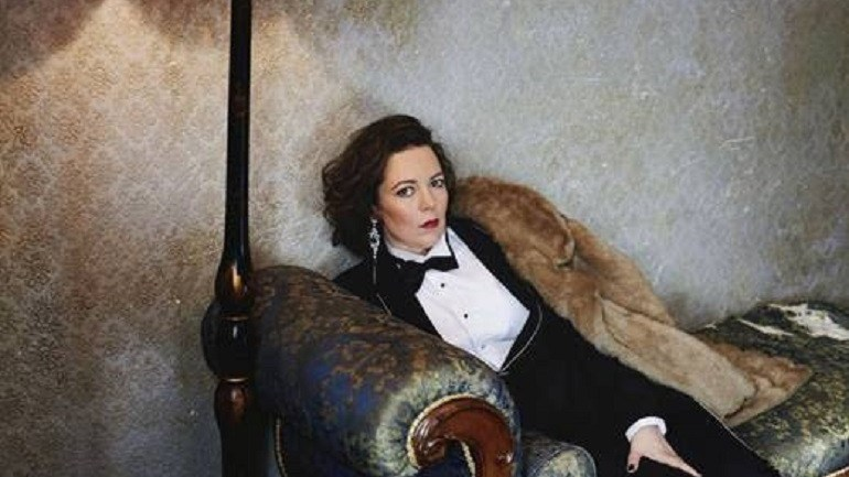 Portrait of British Actress Olivia Colman Unveiled in London