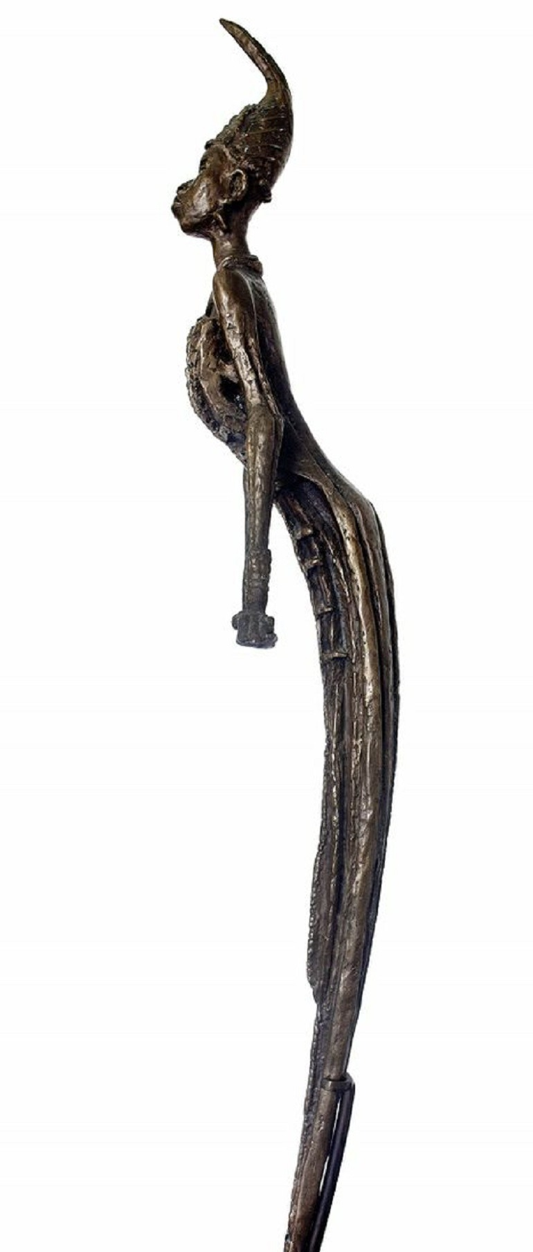 Image: Ben Enwonwu (Nigerian, 1917-1994), 'Anyanwu' sculpture make record art auction price at Bonhams
