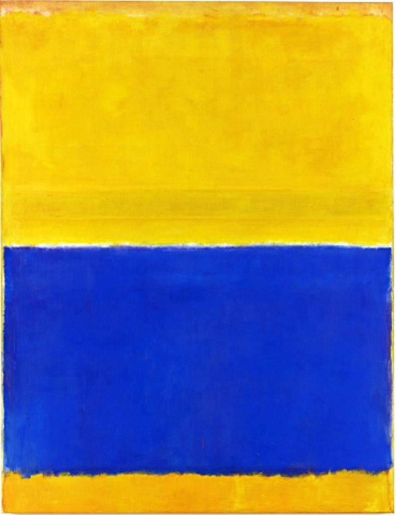 Image: Mark Rothko, Untitled (Yellow and Blue), oil on canvas made auction price at