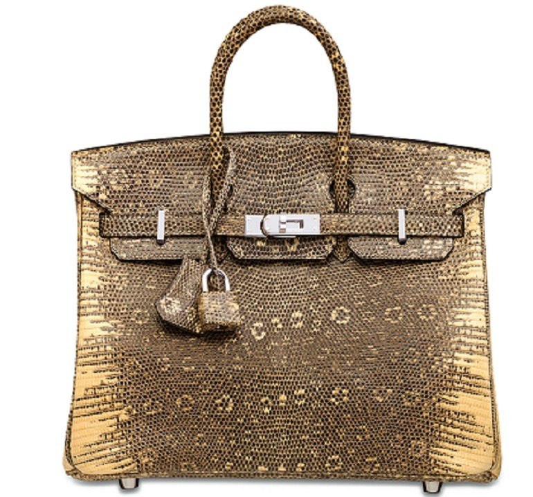 Image: A Rare Shiny Ombre Salvator Lizard Birkin 25 With Palladium Hardware, Hermès, 2007, one of the handbags that made record prices at the auction