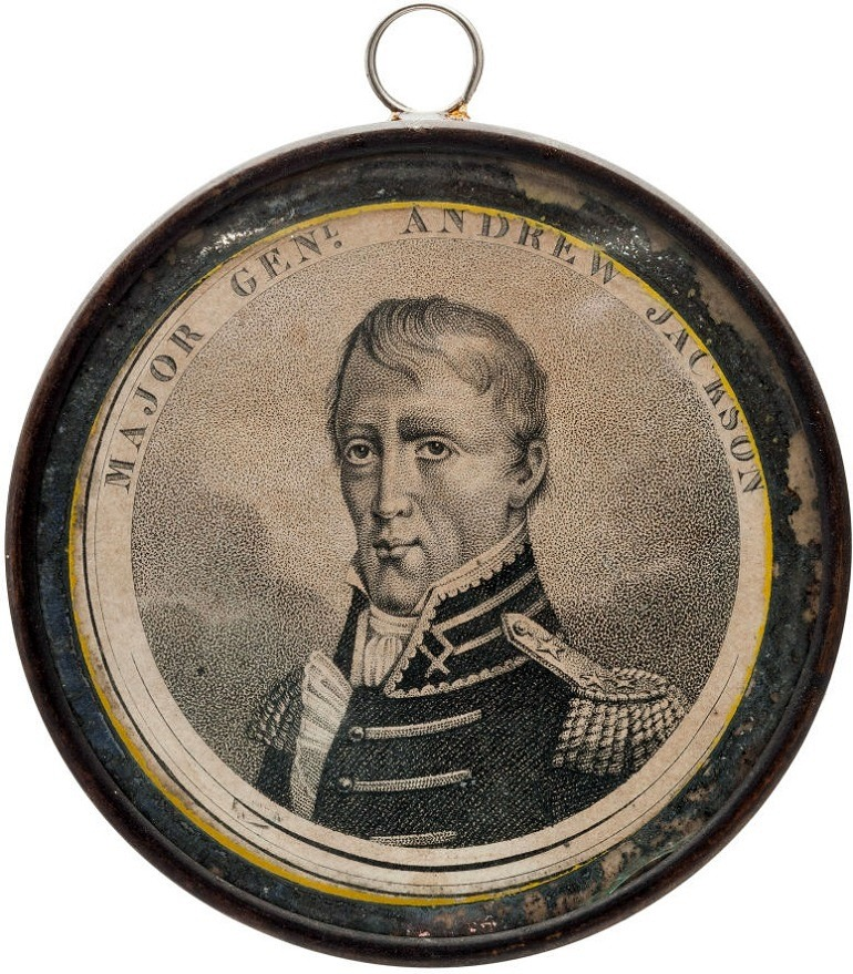 Image: Andrew Jackson: An Exceedingly Rare Large 'Pewter Rim,'  was one of the political items sold at Heritage Auctions
