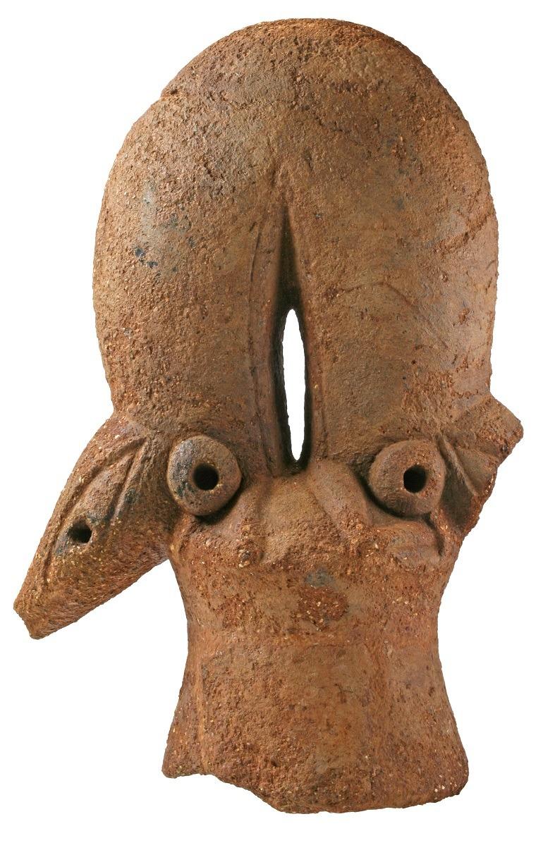 Image: Double-Headed Lizard, Nok Terracotta sculpture dating to first millennium BC-Art