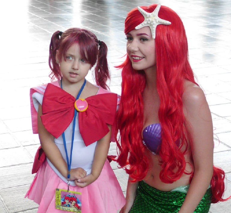 Image: Two Anime fans at Baltimore Convention Center during Otakon 2015