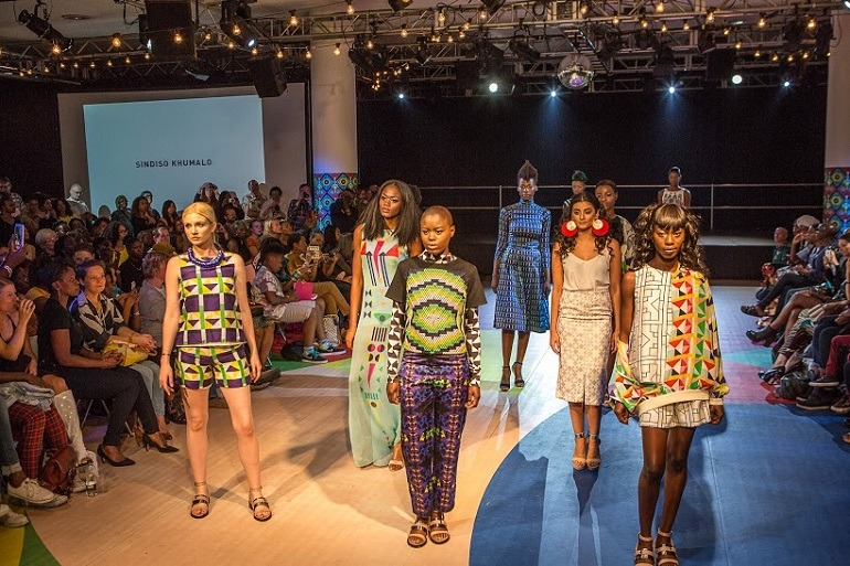 Image: Beautiful models show off  African Fashion at the Africa Utopia Festival