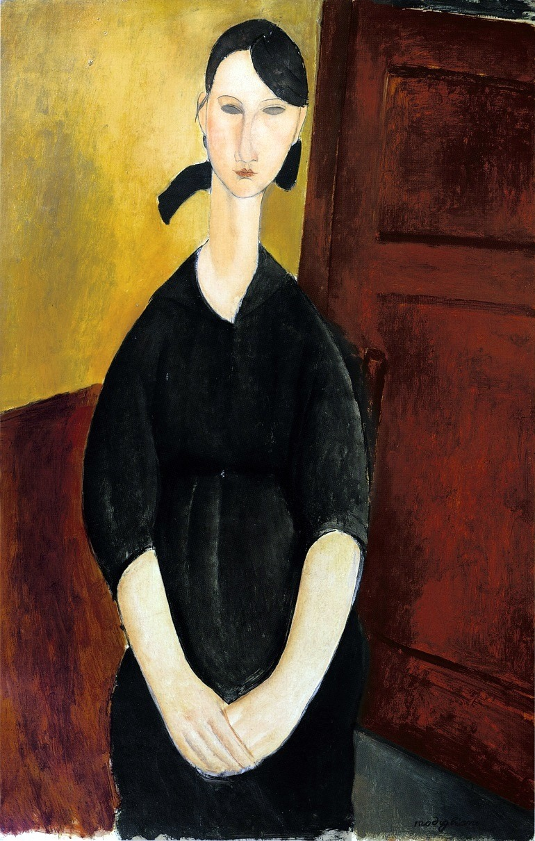 Image: Amedeo Modigliani, Portrait de Paulette Jourdain Circa 1919, from the Alfred Taubman art collection to be sold by Sotheby's