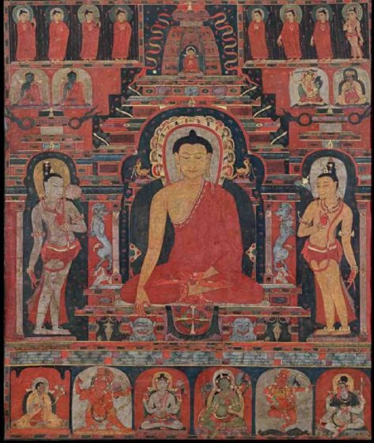 Image: Buddha Shakyamuni, Tibet, Central region, 12th–13th century, distemper on cloth, 71 x 60 cm (28 x 23 ½ in) will feature at Fine Art Asia