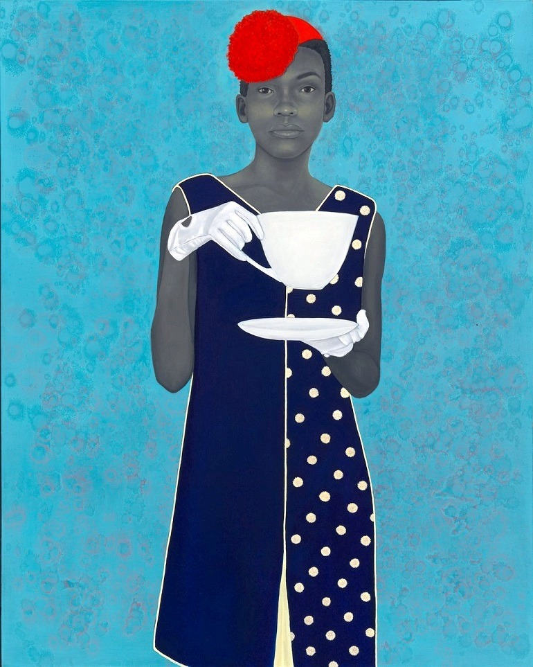 Image: Miss Everything (Unsupressed Deliverance) 2014, by artist Amy Sherald, who won Outwin 2016