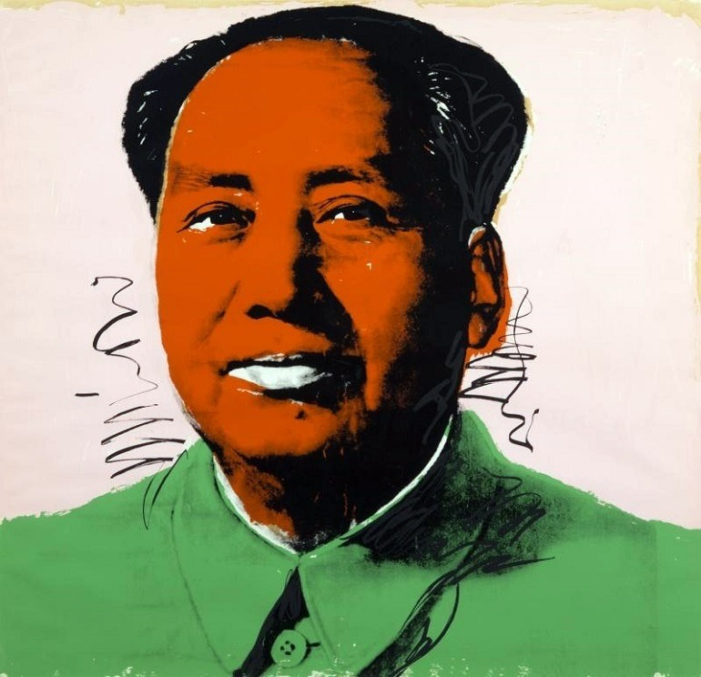 Image: MAO ( F . & S . II . 94 ), 1972 , a Screenprint on paper by Andy Warhol was one contemporary arts in Julian's Auctions of street art that also featured Banksy art
