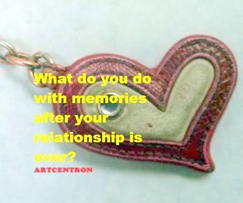 Image: Heart of smile and stone. What do you do with memories after your relationship is over?