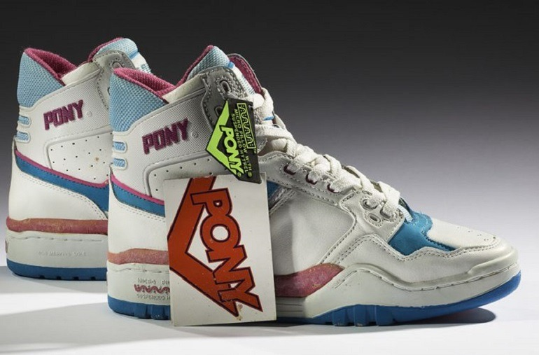 Image: PONY M-100, 1989 from the Collection of the Bata Shoe Museum is one the sneakers on that help tell the history of sneakers at the high museum
