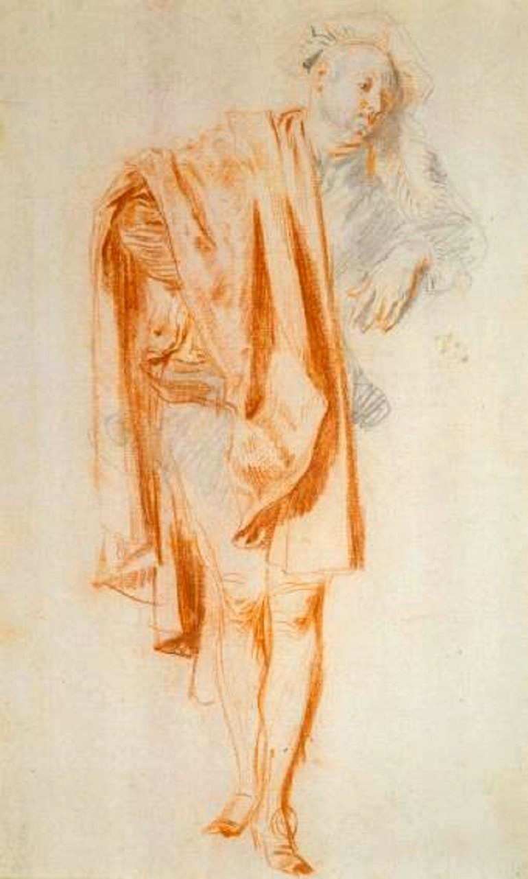 Image: Standing Male Figure by French artist Antoine Watteau in The Draughtsman at Städel Museum is part of global art guide that includes Trump: A Wall of Cartoons in Mexico City